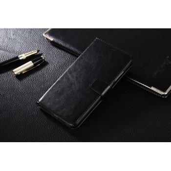 Глянцевый чехол портмоне подставка на магнитной защелке для Xiaomi RedMi Note 4