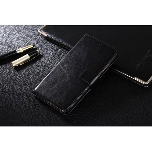 Глянцевый чехол портмоне подставка на пластиковой основе на магнитной защелке для Xiaomi RedMi Note 4  Коричневый