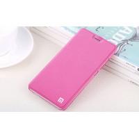 Чехол горизонтальная книжка подставка на пластиковой основе для Xiaomi RedMi Note 4 Розовый