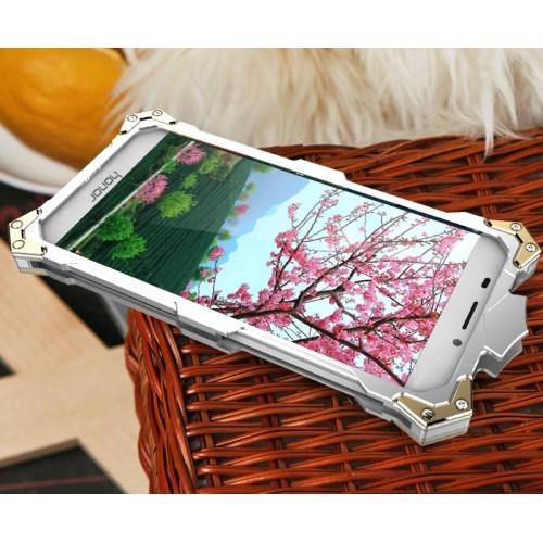 Цельнометаллический противоударный чехол из авиационного алюминия на винтах с мягкой внутренней защитной прослойкой для гаджета с прямым доступом к разъемам для Xiaomi RedMi Note 4  Черный