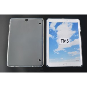 Силиконовый матовый полупрозрачный чехол для Samsung Galaxy Tab S2 9.7 Белый