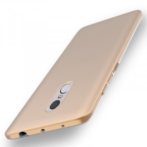 Пластиковый непрозрачный матовый чехол с улучшенной защитой элементов корпуса для Xiaomi RedMi Note 4  Бежевый