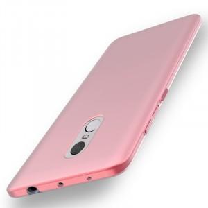 Пластиковый непрозрачный матовый чехол с улучшенной защитой элементов корпуса для Xiaomi RedMi Note 4  Розовый