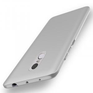 Пластиковый непрозрачный матовый чехол с улучшенной защитой элементов корпуса для Xiaomi RedMi Note 4  Белый