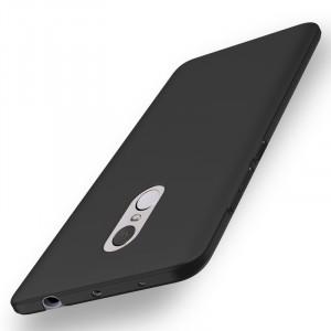 Пластиковый непрозрачный матовый чехол с улучшенной защитой элементов корпуса для Xiaomi RedMi Note 4  Черный