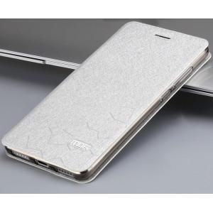 Чехол флип подставка текстура Соты на силиконовой основе для Xiaomi RedMi Note 4 Белый