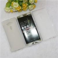 Силиконовый матовый полупрозрачный чехол для Asus ZenFone 3 Deluxe  Белый