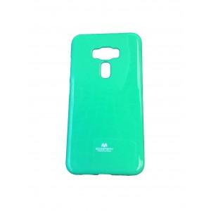 Силиконовый глянцевый непрозрачный чехол для Asus ZenFone 3 Deluxe