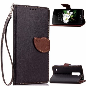 Чехол портмоне подставка на силиконовой основе на дизайнерской магнитной защелке для LG K7