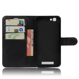Чехол портмоне подставка на силиконовой основе на магнитной защелке для ZTE Blade A610 Черный