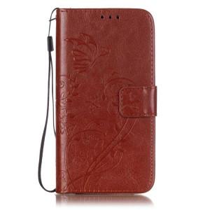 Чехол портмоне подставка текстура Узоры на силиконовой основе на магнитной защелке для LG K7