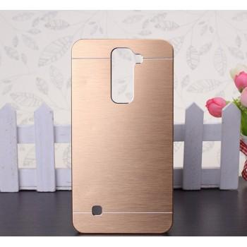 Пластиковый непрозрачный матовый чехол текстура Металлик для LG K7