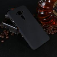 Пластиковый непрозрачный матовый чехол для Asus ZenFone 3 Deluxe  Черный