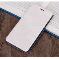 Винтажный чехол флип подставка на силиконовой основе с отсеком для карт для Asus ZenFone 3 Deluxe  Белый