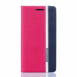 Чехол флип подставка на силиконовой основе с отсеком для карт и тканевым покрытием для Asus ZenFone 3 Deluxe Красный