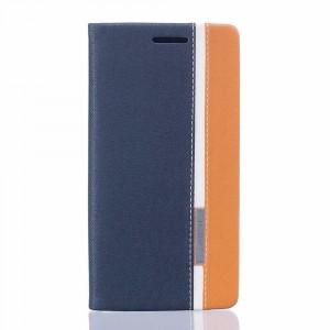 Чехол флип подставка на силиконовой основе с отсеком для карт и тканевым покрытием для Asus ZenFone 3 Deluxe