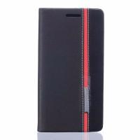 Чехол флип подставка на силиконовой основе с отсеком для карт и тканевым покрытием для Asus ZenFone 3 Deluxe Черный