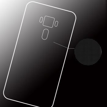 Силиконовый глянцевый транспарентный чехол для Asus ZenFone 3 Deluxe