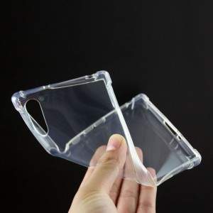 Силиконовый глянцевый транспарентный чехол с усиленными углами для Sony Xperia XZ/XZs