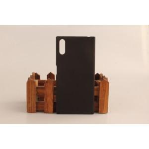 Пластиковый непрозрачный матовый чехол для Sony Xperia XZ/XZs Черный