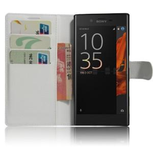 Чехол портмоне подставка на силиконовой основе на магнитной защелке для Sony Xperia XZ/XZs Белый