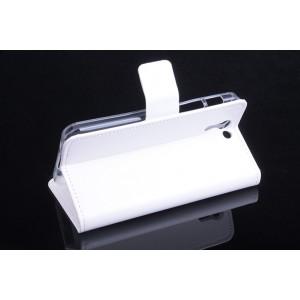 Глянцевый чехол портмоне подставка на силиконовой основе на магнитной защелке для ASUS Padfone S