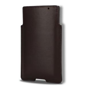 Кожаный гладкий мешок с отсеком для карт для Blackberry Priv