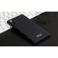 Пластиковый непрозрачный матовый чехол с повышенной шероховатостью для Sony Xperia XZ  Черный