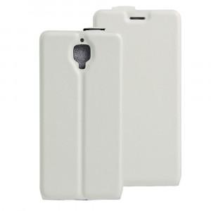 Чехол вертикальная книжка на силиконовой основе с отсеком для карт на магнитной защелке для OnePlus 3 Белый