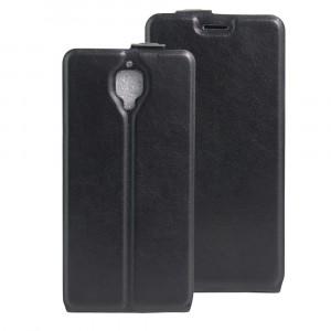 Чехол вертикальная книжка на силиконовой основе с отсеком для карт на магнитной защелке для OnePlus 3 Черный