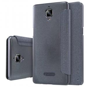 Чехол горизонтальная книжка на пластиковой нескользящей премиум основе для OnePlus 3  Черный
