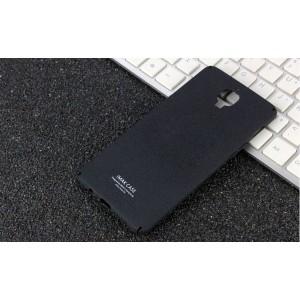 Пластиковый непрозрачный матовый чехол с повышенной шероховатостью для OnePlus 3  Черный