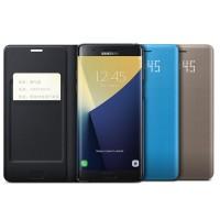 Оригинальный кожаный чехол горизонтальная книжка (премиум нат. кожа) с отделением для карт и LED-индикацией для Samsung Galaxy Note 7