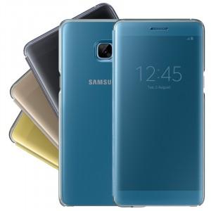 Оригинальный двухмодульный пластиковый непрозрачный чехол флип с полупрозрачной смарт крышкой для Samsung Galaxy Note 7