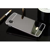 Двухкомпонентный чехол c металлическим бампером с поликарбонатной накладкой и зеркальным покрытием для Google LG Nexus 5  Черный