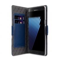 Кожаный чехол портмоне подставка на пластиковой основе на магнитной защелке для Samsung Galaxy Note 7