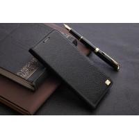 Кожаный чехол портмоне подставка с крепежной застежкой для ZTE Nubia Z11 Черный