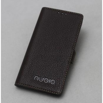 Кожаный чехол горизонтальная книжка подставка с крепежной застежкой для ZTE Nubia Z11