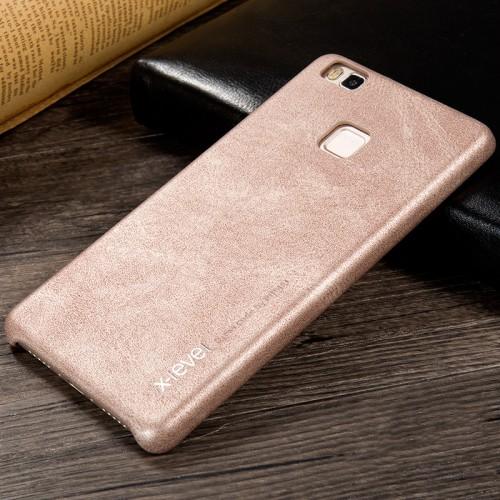 Силиконовый матовый непрозрачный чехол с текстурным покрытием Кожа для Huawei P9 Lite