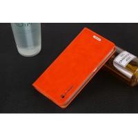 Глянцевый водоотталкивающий чехол горизонтальная книжка подставка на присосках для Sony Xperia XZ/XZs Оранжевый