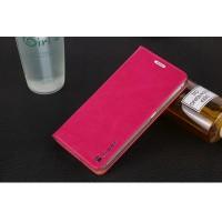 Глянцевый водоотталкивающий чехол горизонтальная книжка подставка на присосках для Sony Xperia XZ/XZs Пурпурный