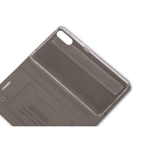 Винтажный чехол горизонтальная книжка подставка на пластиковой основе с отсеком для карт на присосках для Sony Xperia XZ/XZs