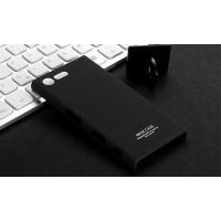 Пластиковый непрозрачный матовый чехол с повышенной шероховатостью для Sony Xperia X Compact Черный