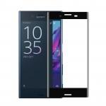 Ультратонкая износоустойчивая сколостойкая олеофобная защитная объемная стеклянная панель на плоскую и изогнутые поверхности экрана для Sony Xperia X Compact
