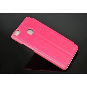 Чехол горизонтальная книжка на пластиковой основе для Huawei P9 Lite  Пурпурный