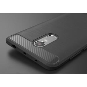 Силиконовый матовый непрозрачный чехол с текстурным покрытием Металлик для Xiaomi RedMi Note 4