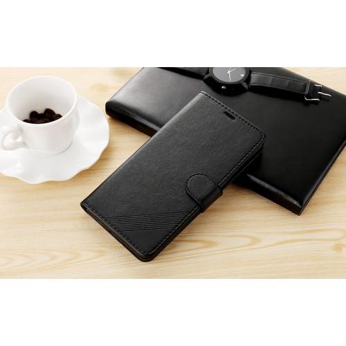 Чехол портмоне подставка текстура Линии на силиконовой основе на магнитной защелке для Xiaomi RedMi Note 4