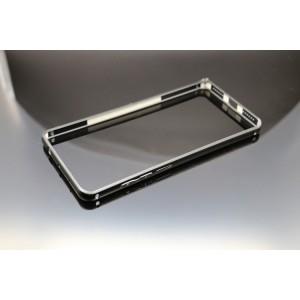 Металлический округлый бампер на пряжке для Xiaomi RedMi Note 4 Черный