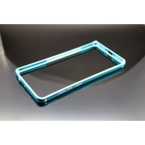 Металлический округлый бампер на пряжке для Xiaomi RedMi Note 4 Голубой