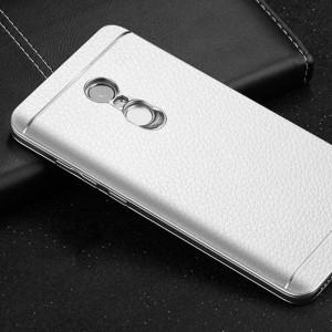 Пластиковый чехол текстурная отделка Кожа для Xiaomi RedMi Note 4